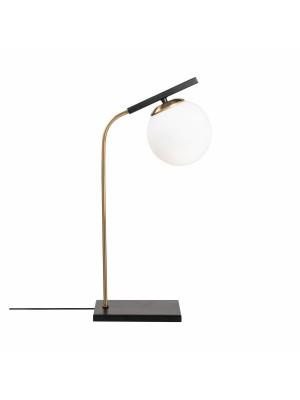 Настолна метална лампа в черно и златно HM7278