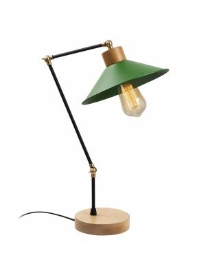 Настолна лампа с чупещо рамо и зелена шапка HM7289