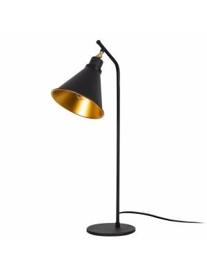 Настолна метална лампа в черно и златно HM7290