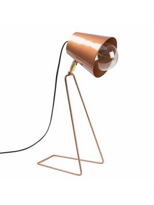 Настолна метална лампа бронзов цвят HM7291