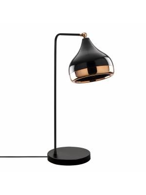 Настолна метална лампа в черно и златно HM7295