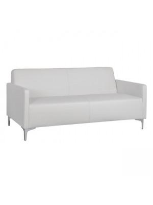 Триместен диван Nellie от бяла синтетична кожа HM3159.32
