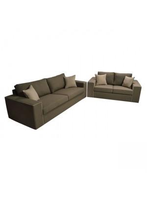Комплект двуместен и триместен диван Home с възможност за избор на дамаска HM3045