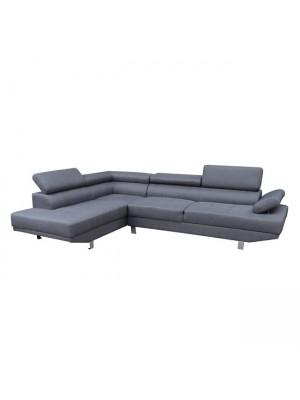 Ъглов диван HM3085.10L сив текстил 270x200x87 cm