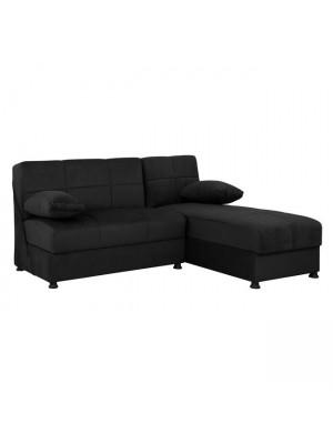Ъглов диван с 2 ракли HM3134.01 Ege Black 188x145x84