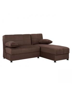 Ъглов диван with с 2 ракли HM3134.02 Ege кафяв V1205 188x145x84