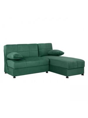 Ъглов диван with с 2 ракли HM3134.07 Ege кипърско зелено 188x145x84cm