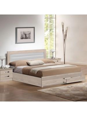 Спалня HM322.02 бяла кожа 150x200
