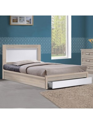 Bed Melany HM323.02 With 1 drawer Sonama/White 110x190