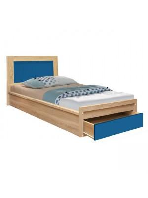 Единично легло с чекмедже Playroom сонома/синьо 90x190cm HM330.01