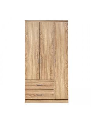 Гардероб с 3 врати HM340.02 цвят сонома 89.2x42x181