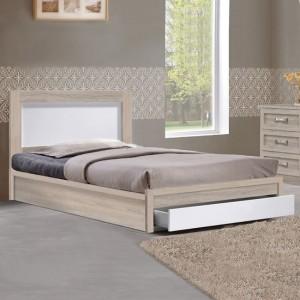 Единично легло Melany HM346с чекмедже цвят сонома/бял 90x190