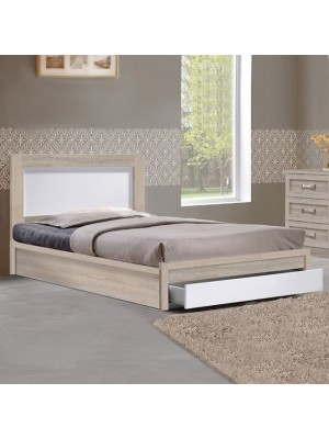 Bed Melany HM346 with 1 drawer sonama/white 90x190