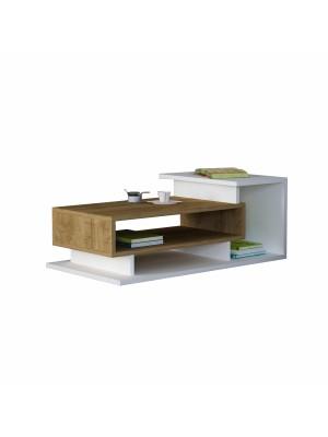 Холна маса с модерен дизайн в бяло и орех HM8868.01