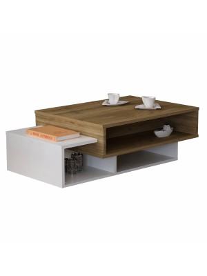 Холна маса с модерен дизайн в бяло и орех HM8869.01