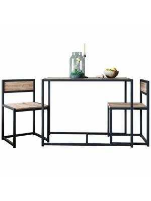 Сет маса с 2 стола в индустриален стил HM8890.01