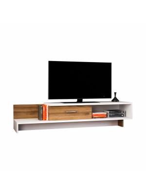 Тв шкаф с изчистен дизайн цвят бяло и орех HM8894.01