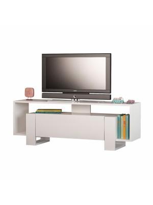 Тв шкаф от меламин в бял цвят HM8896.01
