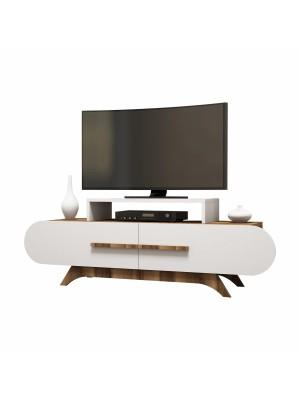 Тв шкаф с модерен дизайн цвят бяло и орех HM8898.01