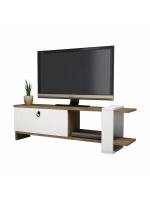Тв шкаф с модерен дизайн цвят бяло и орех HM8900.01