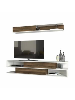 Тв шкаф с модерен дизайн и доплнителен горен рафт HM8903.01