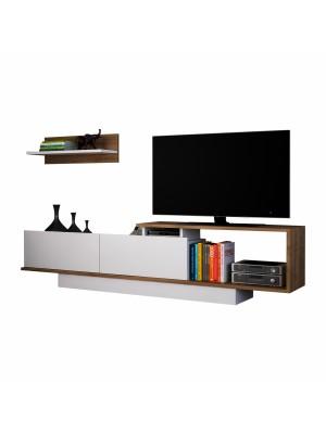 Тв шкаф с модерен дизайн и доплнителен горен рафт HM8904.01