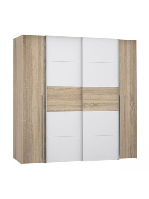 Гардероб с 4 врати (2 Sliding Doors- 2Fixed Doors) Lois HM2368.02 цвят сонома 200x62x191cm