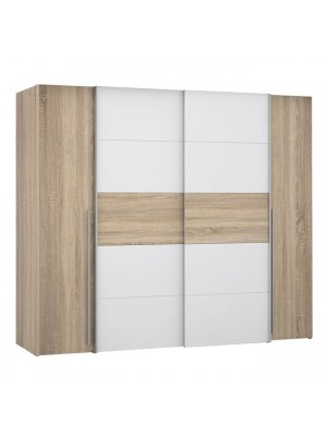 Гардероб с 4 врати (2 Sliding Doors- 2 Fixed Doors) Lois HM2369.02 цвят сонома 271x62x210cm