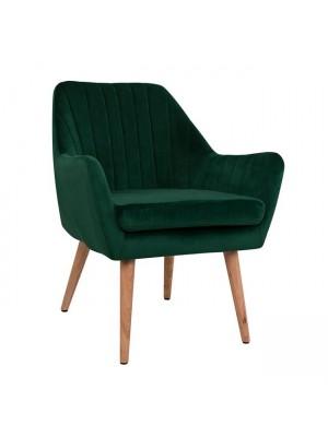 Velvet armchair Corena Cypress Green Color HM8400.03