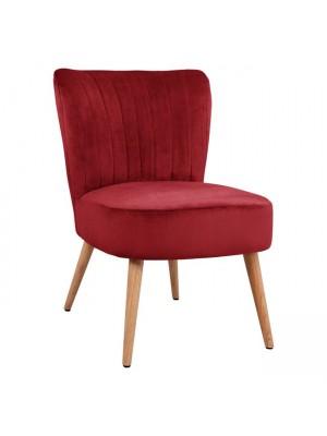 Червено плюшено кресло Carissa HM8404.06