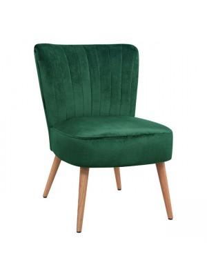 Velvet chair Carissa in green color HM8404.03 59x69x81 cm