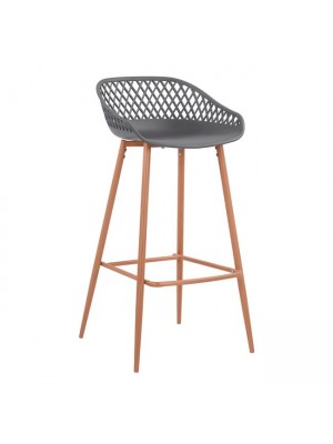 Stool Polypropylene Grey with metallic legs Avaya HM8686.10 47x49x97,5cm