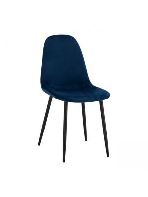 Стол Leonardo син с черни крака HM00100.08 43x54x88 cm.