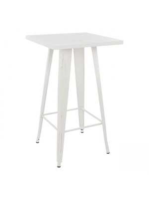 Stand Bar in white patina color HM0610.05 60x60x102