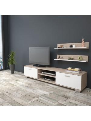 ТВ шкаф  HM2300.02 цвят бял/мока