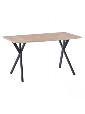 Table Alarick HM8550.01 MDF Surface Sonama & Metallic Legs 140x80x75cm