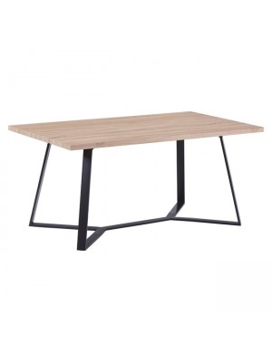 Table Aldwin HM8551.01 with MDF Surface sonama and Metalic Legs 160x90x75cm