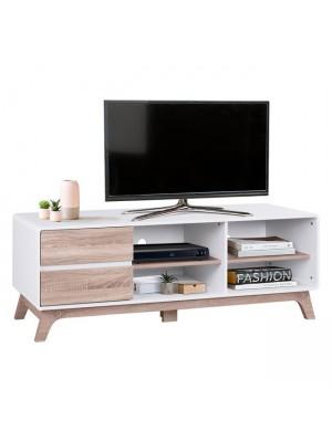 ТВ шкаф Dante HM2330 цвят бял/сонома Color 150x40x53cm