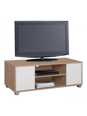 ТВ шкаф HM2341.01 цвят сонома/бял 120x40x41cm