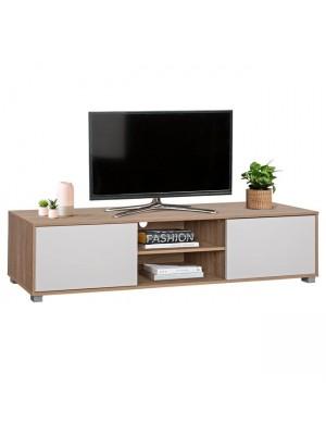 ТВ шкаф HM2344.01 цвят сонома/бял 180x40x41cm