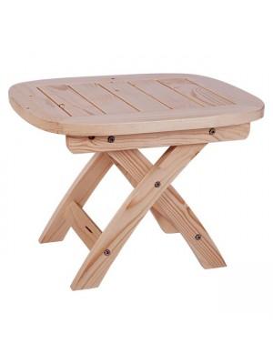 Плажна маса с подсилена дървена рамка в естествен цвят 53x45x38cm HM5670.01