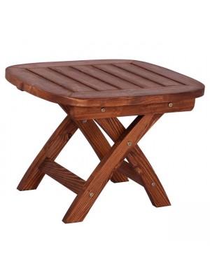 Плажна маса с подсилена дървена рамка цвят орех 53x45x38cm HM5670.02