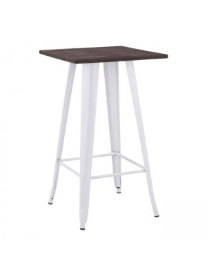 Stand Bar HM0613.21 Milk white color and wood 60x60x104