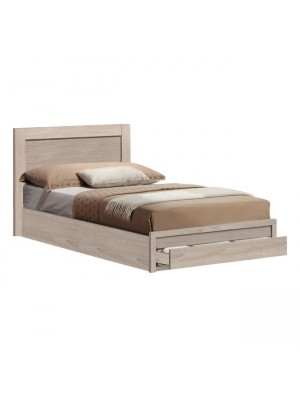 Bed Melany HM323.12 with 1 drawer Sonama 110x190