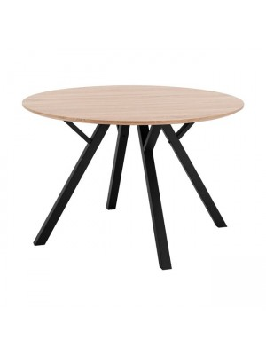 Table HM8718.01 with MDF surface SONAMA & metallic legs Φ120x76 cm.
