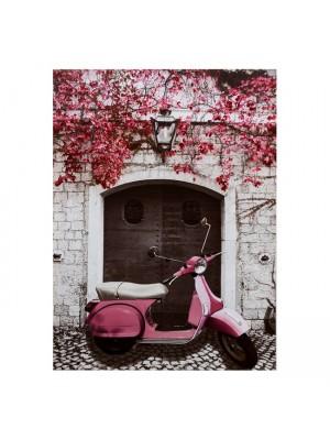 Картина розов мотоциклет HM7066 50X70X2.5
