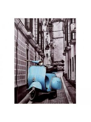 Картина син мотоциклет HM7067 50X70X2.5