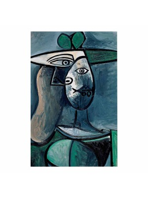Картина принт жена в зелено HM7193.01