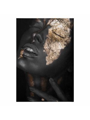 Картина принт момиче със златен грим HM7196.01