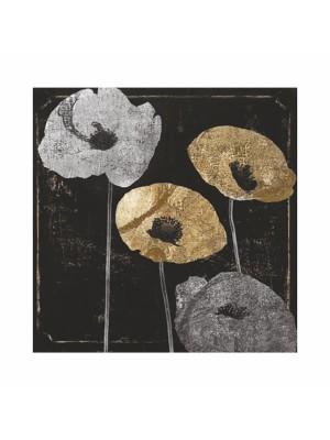 Картина принт златни цветя HM7199.01